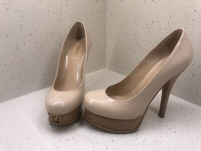 552f0dfb262 Fendi Fendista Platform Leather Pumps Used   Size 38.5