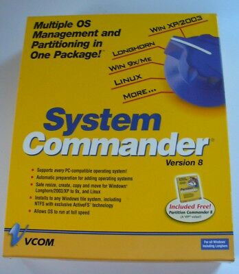 2005 System Commander Version 8 PC Win XP/2003 Sealed NEW