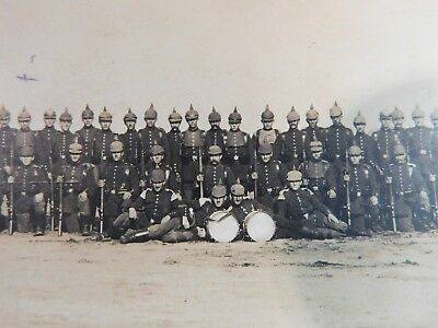 Antique WW1 GERMAN Real Photo RPPC Postcard SPIKE HELMETS W/CAMO COVERS YOUNG