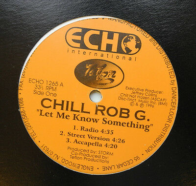 "12"" Us**chill Rob G. - Let Me Know Something (Echo International '96)***14223"