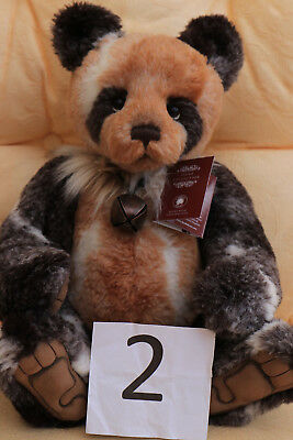 Charlie Bears 2018 Jung The Big Red Panda Manufactured limited Edition No 317 Of 1000