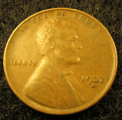 1932-D Lincoln Wheat Cent Penny Nice Circulated Raw Coin       10211824