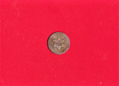 1853 Three Cent Silver,early Year,(674)