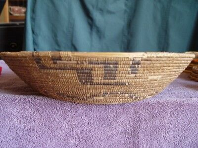 """Old Antique Native American Utility Basket-Large 16"""" X 3.50"""""""