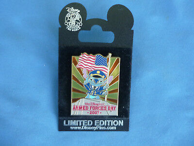 STITCH    Disney Pin  ARMED FORCES DAY 2007 LIMITED EDITION  FLAG New  HTF