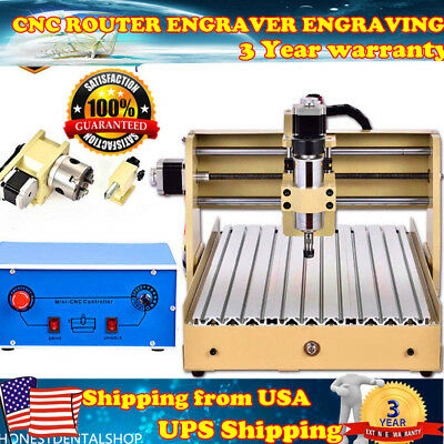 Cnc Router Engraver Engraving Cutter 4 Axis 3040 T-Screw Desktop Cutting Carving