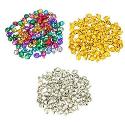 100Pcs Loose Beads Mini Jingle Bells Christmas Halloween Decor DIY Craft 6mm AU