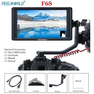 "Professional Feelworld F6S IPS 5"" On-Camera Video Monitor 1920x1080 4K HDMI DH"