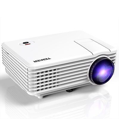 TENKER RD805 Mini Projector, Portable Home Cinema HD LED Video Movie Projector