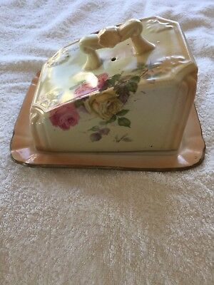 Antique Victorian Staffordshire Large Lidded Cheese Dish