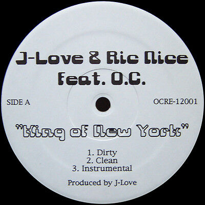 "12"" Us **j-Love & Ric Nice / O.c. - King Of New York  ( Sealed)**7582"