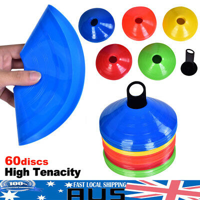 60 Pack Fitness Exercise Sports Training Discs Markers Cones Soccer Rugby