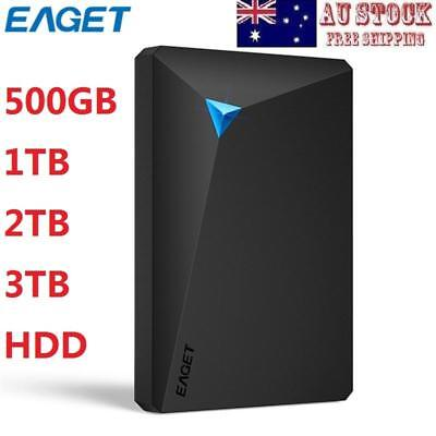"EAGET G20 Ultra-thin 2.5"" 1/2/3TB USB3.0 High-speed External Hard Disk Drive HDD"