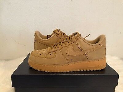 Nike Air Force 1 Size 7.5 WB Flax Wheat Brown Mens Shoes Sneakers #AA4061-200