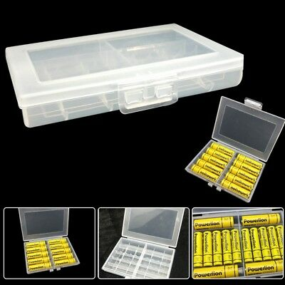 Hard Battery Storage Box Case Organizer Holder Container for AAA AA Batteries