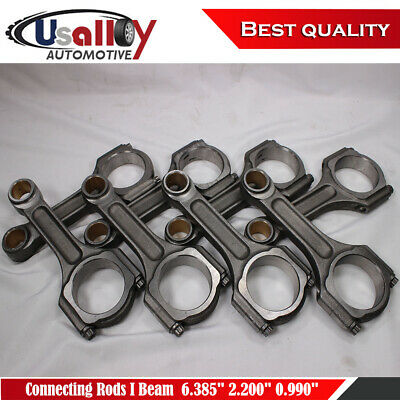 Chevy BBC 454 I Beam 6.385 2.200 .990 Bronze Bush 5140 Connecting Rods Suits