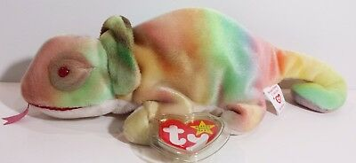 """TY Beanie Babies """"RAINBOW"""" CHAMELEON - MWMTs! GREAT GIFT! RETIRED! Colors Vary!"""