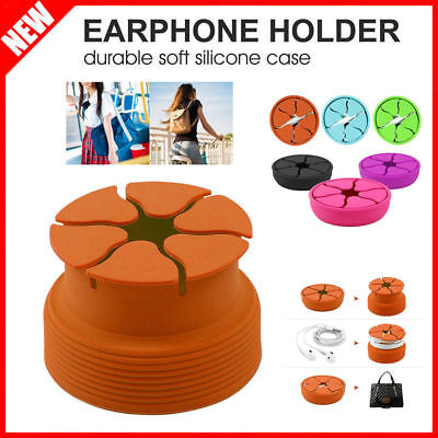 Earphone Headphone Earbud Carrying Silicone Case Protective Storage Pouch Holder
