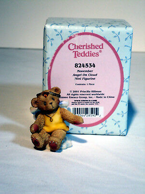 Cherished Teddies Avon ANGEL ON CLOUD November Birthstone #824534 MIB