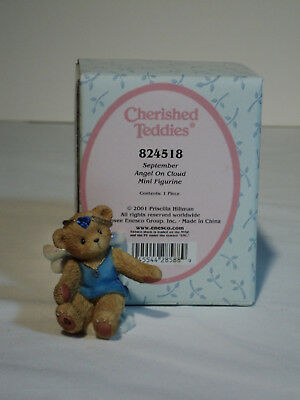 Cherished Teddies Avon ANGEL ON CLOUD September Birthstone #824518 MIB