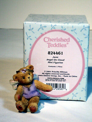 Cherished Teddies Avon ANGEL ON CLOUD June Birthstone #824461 MIB