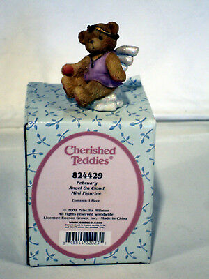 Cherished Teddies Avon ANGEL ON CLOUD February Birthstone #824429 MIB