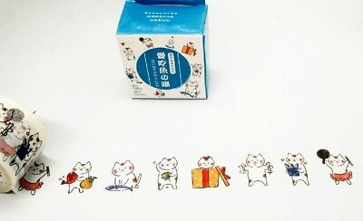 Japan Washi Tape Cat love Fish 30mm wide sold by meter MT215
