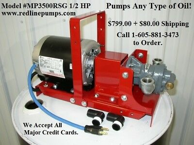 New Redline 1/2 HP Waste Oil/Bulk Oil Transfer Pump, for Heaters,Burners,Furnace