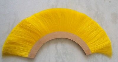 Roman Natural Horse YELLOW Plume Helmet Hair Brush Ancient Helmet Replica