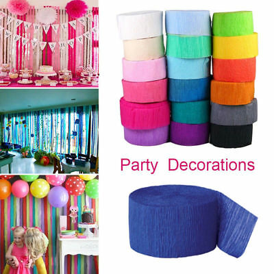 10M Crepe Paper Rolls 81ft Streamer Wedding Birthday Party Decoration Bunting