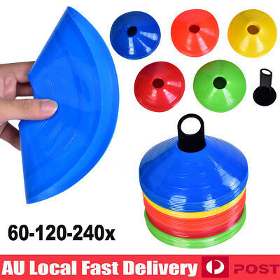 120 180Pcs Fitness Exercise Sports Training Discs Markers Cones Soccer Rugby AU