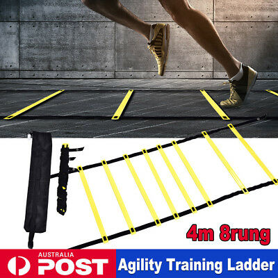 4 Meters Agility Speed Ladder with Carry Bag Sports Training Gym Equipment