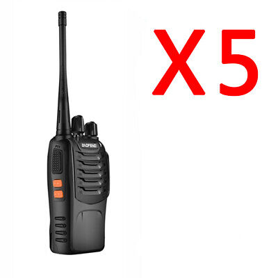 5 x BaoFeng Walkie Talkies Two Way Radios Long Range UHF 400-470MHz Police Radio