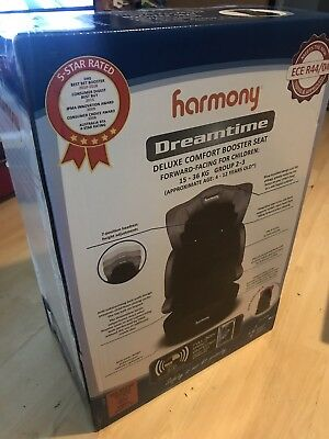Harmony Dreamtime Deluxe Comfort Booster Seat,Group 2/3 15-36KG , Appro 4-12yrs