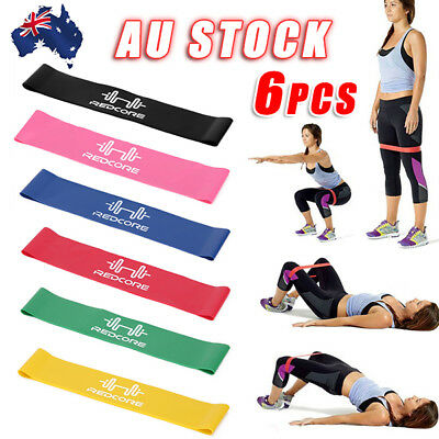 6pcs Resistance Bands Mini Loop Band Exercise Strength Fitness GYM