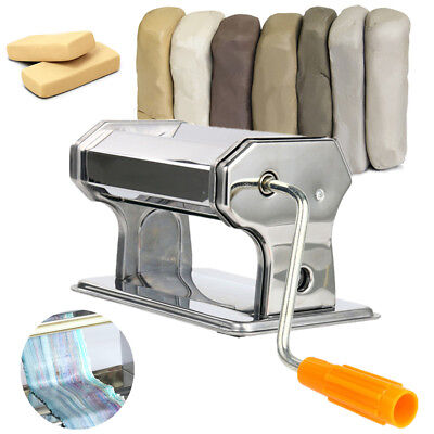 Stainless Steel Craft Polymer Clay Conditioning Machine Press Roller Pasta New