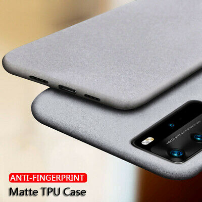 For Huawei Mate 20 Lite P20 P30 Pro Slim Sandstone Soft Rubber Matte Case Cover