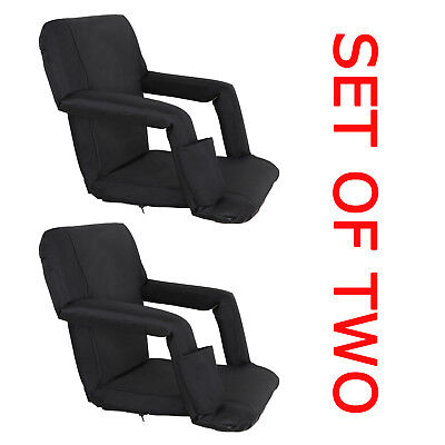 5 Reclining Positions Tiltable Stadium Seat Concert Competition Bleacher Chair