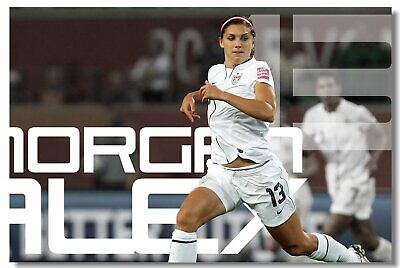 30d7ffd953e POSTER ALEX MORGAN Women s Soccer Football Star Art Wall Cloth Print ...