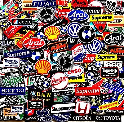 Select 2x Patch Twin Racing Car Embroidered Iron On Sew Logo 200 Designs Vintage