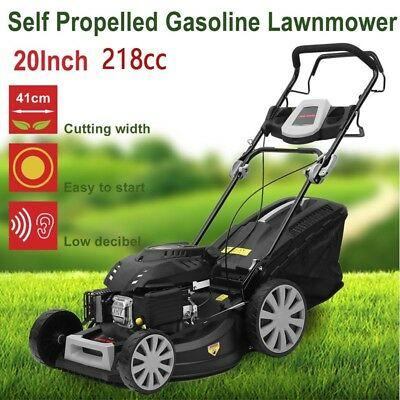 "PowerBlade Lawn Mower Self Propelled 20"" 218cc 4 Stroke Lawnmower Grass Catch AU"