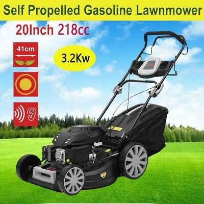 20Inch 218cc Lawn Mower Self Propelled Gasoline Lawnmower Garden Grass Trimmer