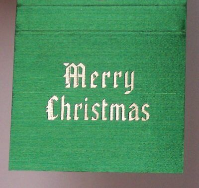 1960s Bank of Commerce Trust Xmas Lexington KY Fayette Co Matchbook Kentucky