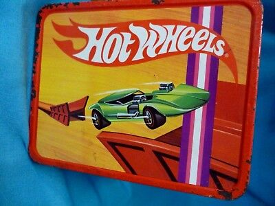 """Vintage Lunch Box  ~ """"hot Wheels""""  ~ 1969  No Thermos"""