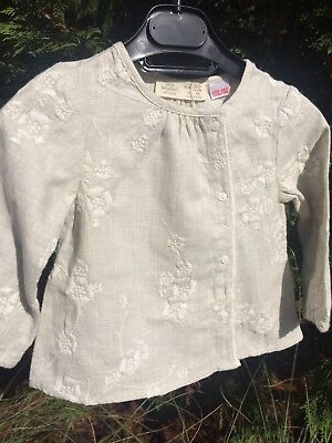 Zara Baby Girl Embroided Top Bonpoint Style 12-18 months NWT