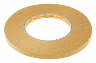 3M 9084 Beige Double Sided Paper Tape, 9mm x 50m, 0.1mm Thick