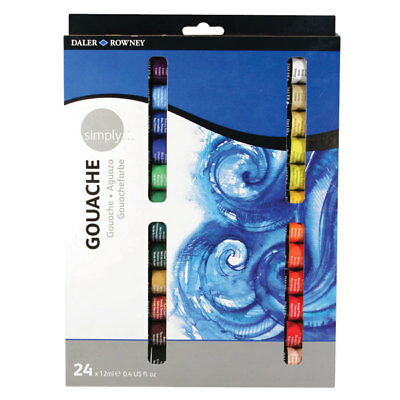 Daler Rowney Simply Gouache 24 x 12ml Set