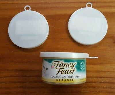 Set of 3~SMALL/MINI~Can Lids/Covers for Pet/Cat/Kitten Food Cans~3 oz Can~W