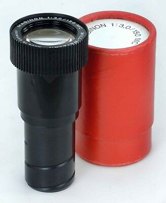 Will Wetzlar 150mm F3 - 35mm Slide Projection Lens - 42mm Helical Mount.