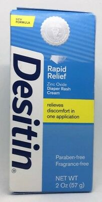 Desitin Rapid Relief Diaper Rash Cream, 2 Ounce Tube - SEALED Exp 1/2019